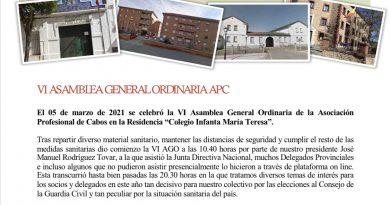 VI ASAMBLEA GENERAL ORDINARIA DE APC-GC